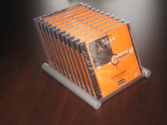cd flip st nder alu schwarz f r 33 cd s aufbewahrung. Black Bedroom Furniture Sets. Home Design Ideas