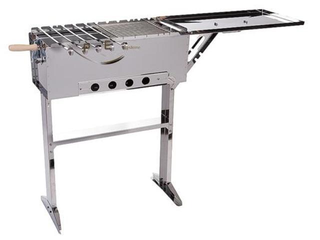 schaschlik grill edelstahl grill mangal mit deckel ebay. Black Bedroom Furniture Sets. Home Design Ideas